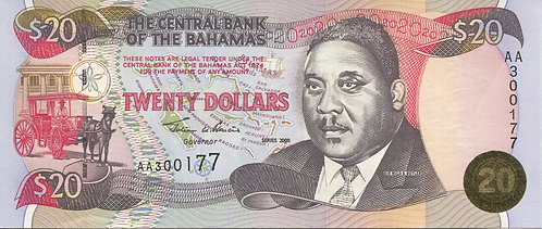 Bahamas, 2000, 20 Dollars