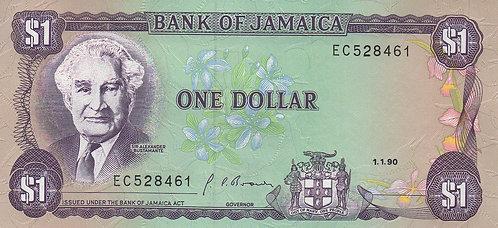 Jamaica, 1990, 1 Dollar