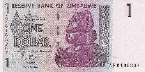 Zimbabwe, 2007, 1 Dollar