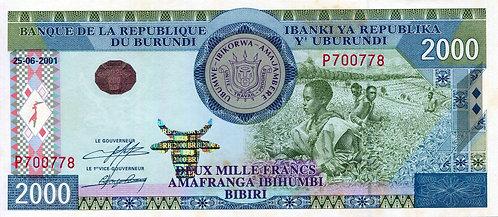 Burundi, 2001, 2000 Francs