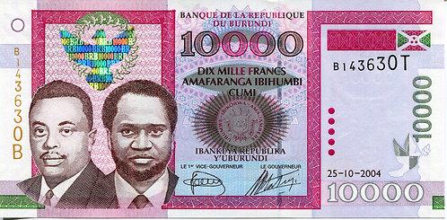 Burundi, 2009, 10,000 Francs