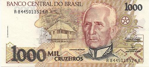 Brazil, 1989, 1000 Cruzeiros
