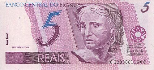 Brazil, 1997, 5 Reais
