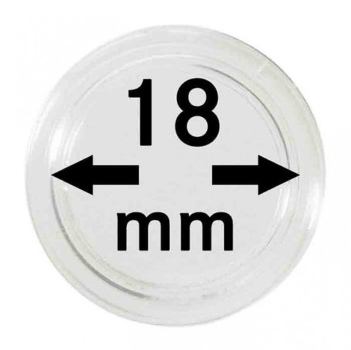 COIN CAPSULES 18 MM Ø INNER DIAMETER