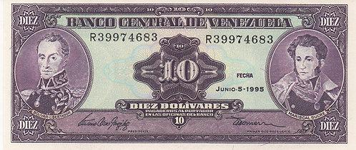 Venezuela, 1995, 10 Bolivares