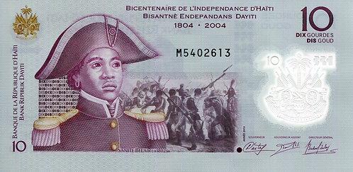Haiti, 2013, 10 Dix Gordes, Polymer