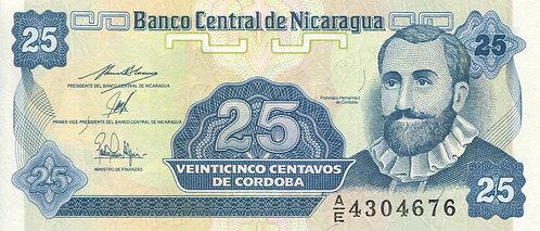 Nicaragua, 1991, 25 Centavos