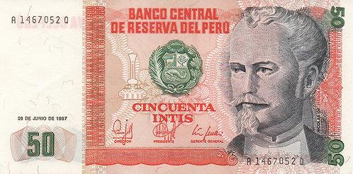 Peru, 1987, 50 Intis