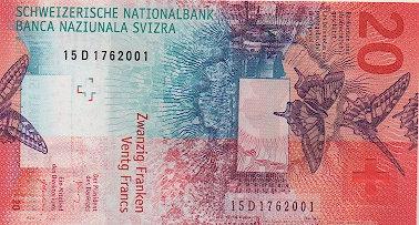 Switzerland 2017, 20 Francs, Hybrid type