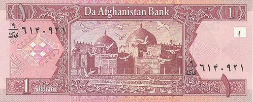 Afghanistan, 2002, 1 Afghanis