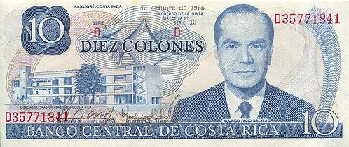 Costa Rica, 1985, 10 Colones