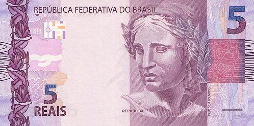 Brazil, 2010, 5 Reais