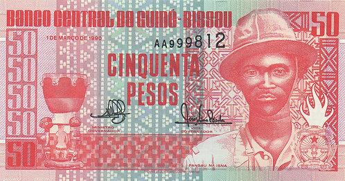 Guinea-Bissau, 1990, 50 Pesos