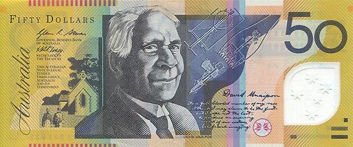 Australia, 2008, 50 Dollars, Polymer