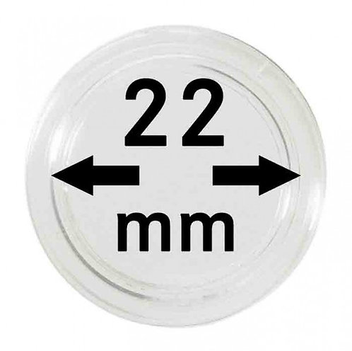 COIN CAPSULES 22 MM Ø INNER DIAMETER