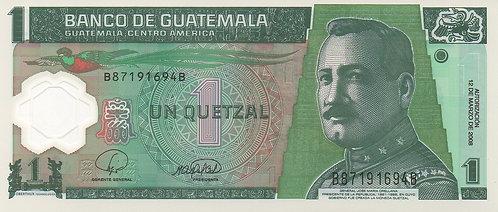 Guatemala, 2008, 1 Quetzale, Polymer