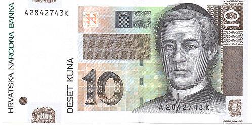Croatia, 2001, 10 Kuna