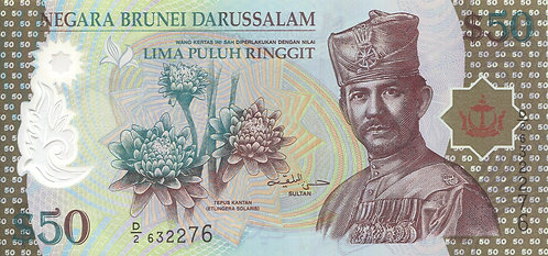 Brunei, 2004, 50 Ringgit, Polymer