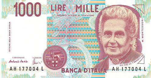 Italy, 1990, 1000 Lire
