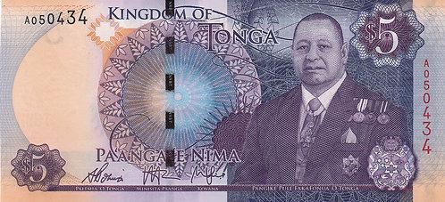 Tonga, 2015, 5 Pa'anga