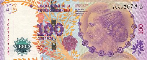 Argentina, 2013, 100 Pesos, Evita's Peron, Prefix B