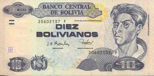 Bolivia, 1986 (2001), 10 Bolivianos