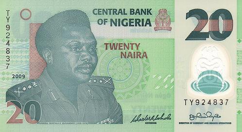 Nigeria, 2009, 20 Naira, Polymer