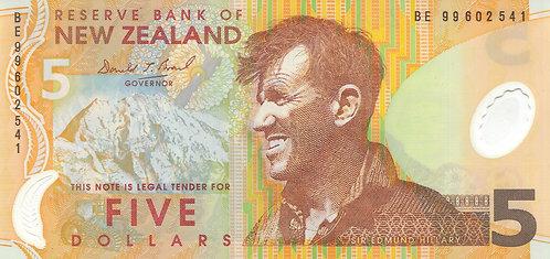 New Zealand, 1999, 5 Dollars, Polymer