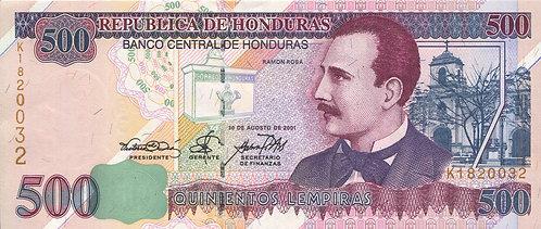 Honduras, 2001, 500 Lempiras