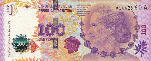 Argentina, 2012, 100 Pesos, Evita's Peron, Prefix A