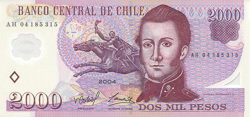 Chile, 2004, 2000 Pesos, Polymer
