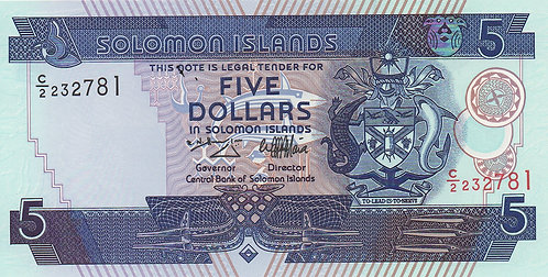 Solomon Islands, 1997, 5 Dollars