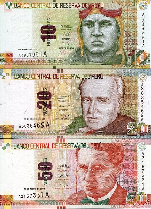 Peru, 2009, 10-200 Nuevos Soles, Set (5pcs)