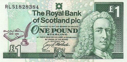 Scotland, 1994, 1 Pound, The Royal Bank of Scotland, Commemorative