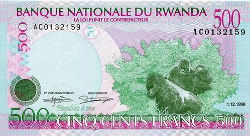 Rwanda, 1998, 500 Francs