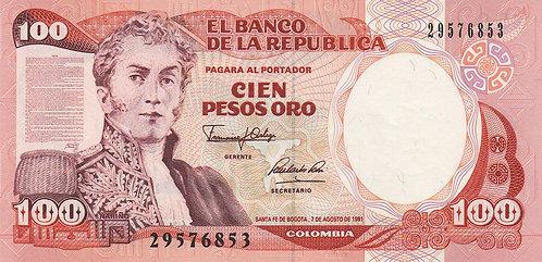 Colombia, 1991, 100 Pesos Oro
