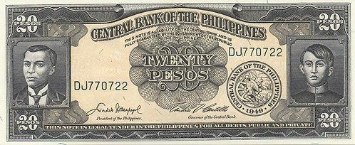 Philippines, 1949, 20 Piso