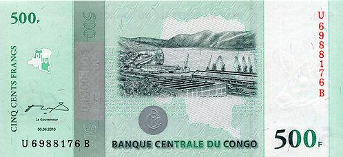 Congo, 2010, 500 Francs