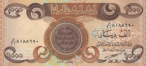 Iraq, 2003, 1000 Dinars