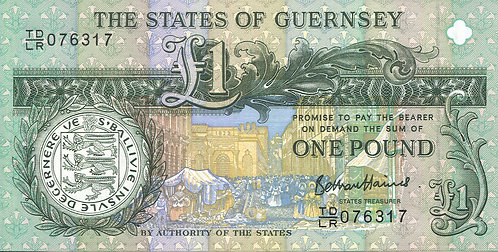 Guernsey, 2013, 1 Pound, 200th Anniversary of Thomas De La Rue's