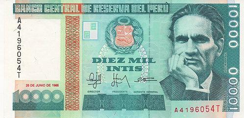 Peru, 1988, 10000 Intis