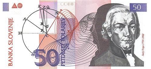 Slovenia, 1992, 50 Tolarjev