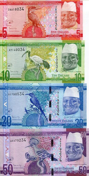 Gambia, 2015, 5-100 Dalasis, Set (5pcs)