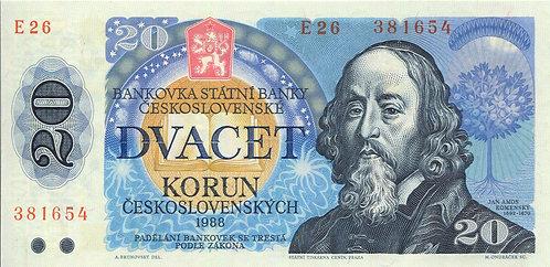 Czechslovakia, 1988, 20 Korun