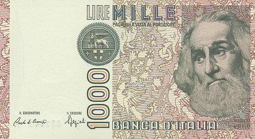 Italy, 1982, 1000 Lire