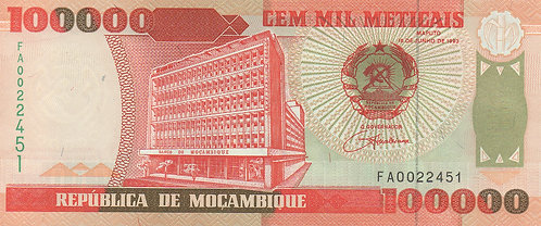 Mozambique, 1993, 100,000 Mepicais