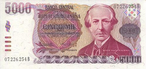 Argentina, 1984-1985, 5000 Pesos