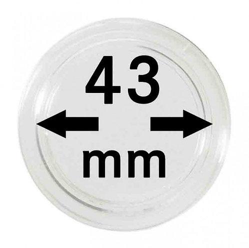 COIN CAPSULES 43 MM Ø INNER DIAMETER