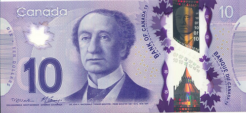 Canada, 2013, 10 Dollars, Replacement Notes, Polymer