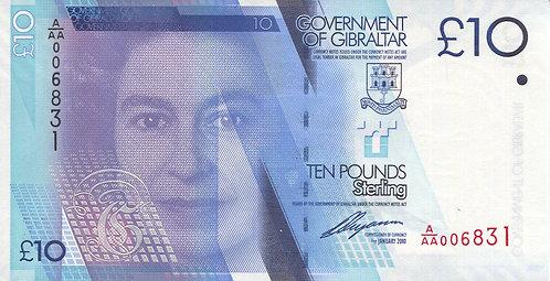 Gibraltar, 2010, 10 Pounds